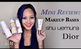 Mini Reviews: Shu Umeura and Dior Makeup Bases [HD]