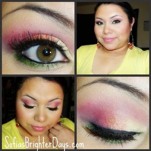 Summer Starburst look using all Sallygirl eyeshadows