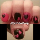 Valentine's day caviar nails