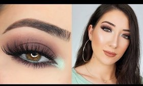 BROWN SMOKEY EYE WITH A POP OF TEAL MAKEUP TUTORIAL