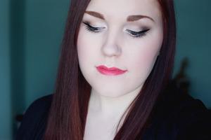 On my lips is Rimmel London Moisture Renew Lipstick in Coral Queen.
