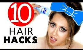 10 ★ LAZY Girls HAIR HACKS & Hairstyles That ARE Actually Kinda Useful!