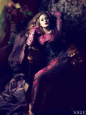 Adele is such a beautiful woman, she looks so strong an still classy. Awesome picture