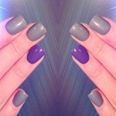 Gray n purple nails