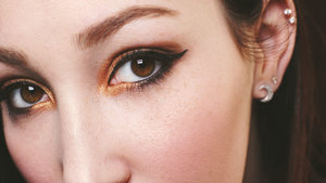 Quick and Easy Gold Smokey Eye using the Lorac Pro Palette.
