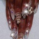 Stiletto nails bling