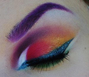 I got inspired by Leesha's (Xsparkage) Hunger Games makeup tutorial, but made my own verison based on her look!
