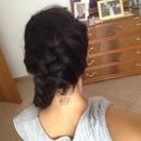 French braid around head ;)