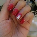 My Christmas themed nail art