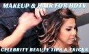 Celebrity Makeup & Hair Tutorial for HD TV part 2  Taniya Nayak - mathias4makeup