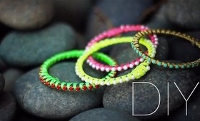 DIY Neon Stacking Bracelets
