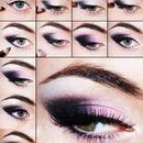 Black and Purple makeup look