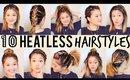 10 Heatless Hairstyles // Under 5 Minutes