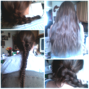 4 strand braid Fish bone 5 strand braid(: