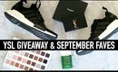 YSL GIVEAWAY | September Favorites ❤️ Adidas NMDs & More!