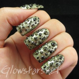 Read the blog post at http://glowstars.net/lacquer-obsession/2014/06/the-digit-al-dozen-does-metal-molten-metal-foam/