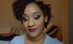 How To | Smokey Shimmer Eyes with Red Lips