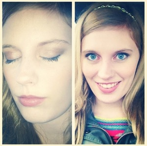 This is my everyday makeup  Eye shadow is from ulta  Cover girl lipstick
