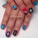 Comic books nail design