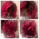 Red Fiery 3/4 Wig
