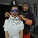 Behind The Scene : Futuristic Beauty Woman