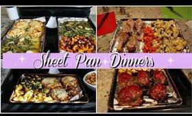 WHAT'S FOR DINNER | SHEET PAN DINNERS | QUICK & EASY ONE POT MEALS