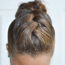 Braided Hump into Messy Bun