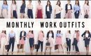 Monthly Work Outfit Options | Style Mix + Match Ideas | ANN LE