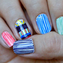 Pin Stripe Nails