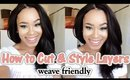 How To Cut Your Own Hair in Layers & Style | Weave Friendly