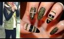 Fashion Inspired Nails: Leather & Khaki