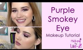 Drugstore Bright Purple Smokey Eye Makeup Tutorial - NYX Ultimate Brights Palette Tutorial