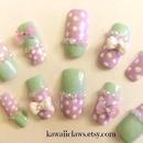 Purple & Mint Dots