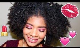 Valentine's Day Makeup 💖 Dramatic and Glam Monochrome Pinks || Zaji-Kali