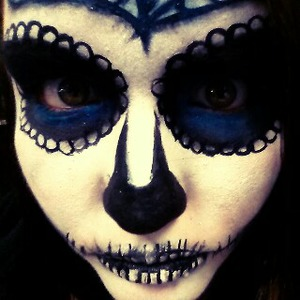 sugar skull done last Halloween for my friend.