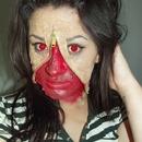 Unzipped gross face!