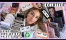 my favorite things! 💕 HUGE DECLUTTER & ORGANISING - face palettes, highlighters & false lashes!