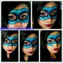Face mask wit glitter