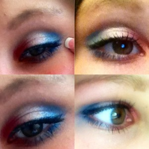 This is a makeup look that I wore to a 4th of July party