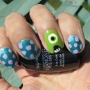 Monster University Nail Art
