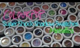 ColourPop Cosmetics Super Shock Shadow Swatch Party! Part 2: Metallics