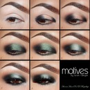 PICTORIAL  smoky iridescent green