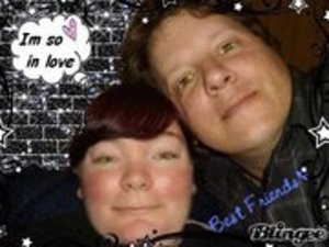 me and  my  decorated a  pic that a friend photo shopped  our eyes to look like Cullen eyes in Twilight