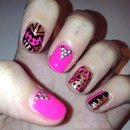 Pink Tribal Leopard Nails!