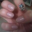 Pink aztec nails
