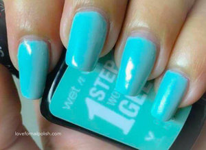 More swatches and review http://lovefornailpolish.com/wet-n-wild-1-step-wonder-gel-nail-polish-pretty-peas