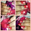 valentine nails
