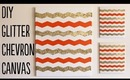 DIY Chevron Glitter Canvas (Home Decor) Tutorial   OliviaMakeupChannel