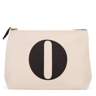 Natural Wash Bag Letter O