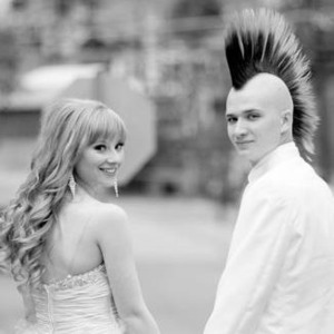 When my hair was long and his mohawk was glorious.
